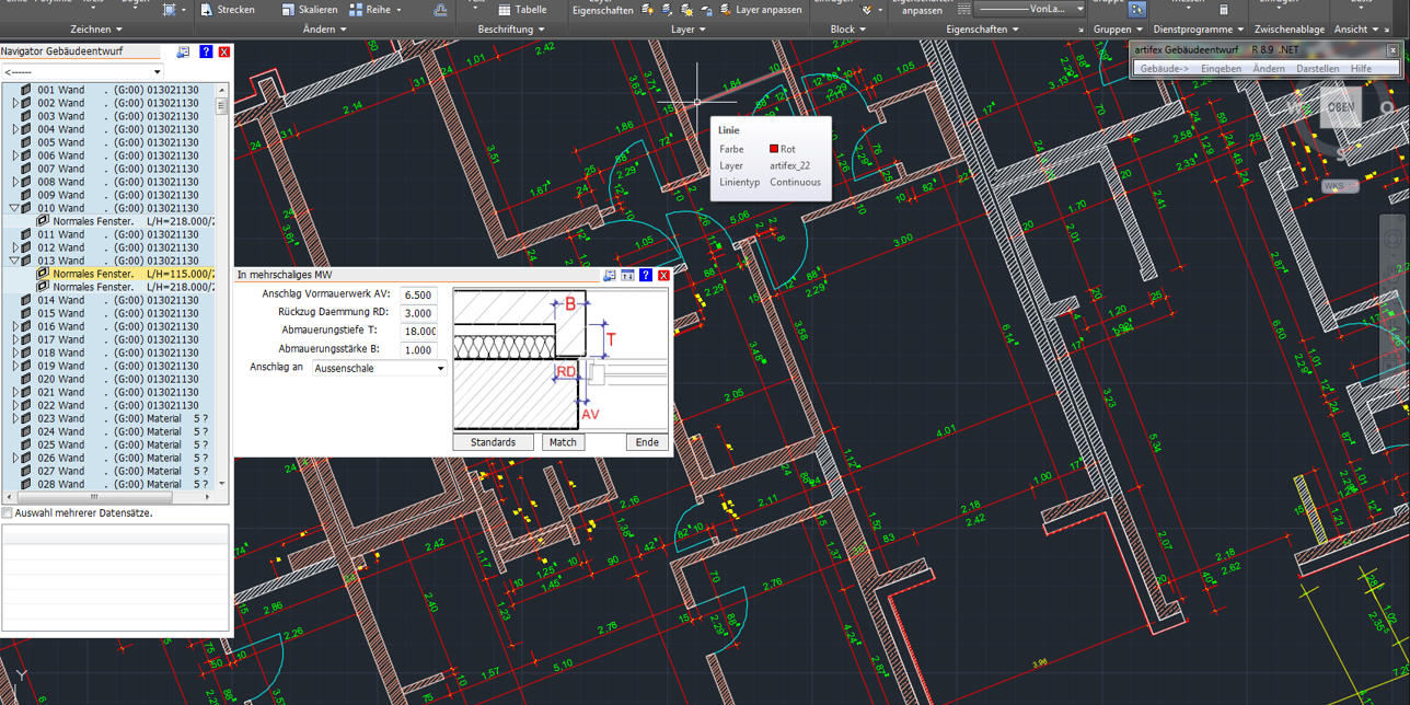 Intelligente CAD Software  2D / 3D für Architektur , Schalpläne Bewehrung
