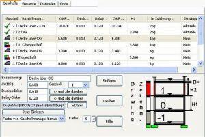 CAD Architekur Geschossmanager