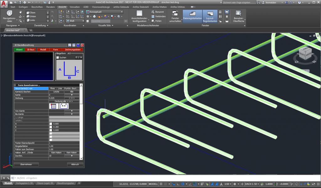 CAD 2D / 3D Bewehrung