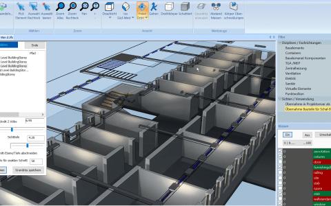 BIM IFC Modell zu 2D Grundriss
