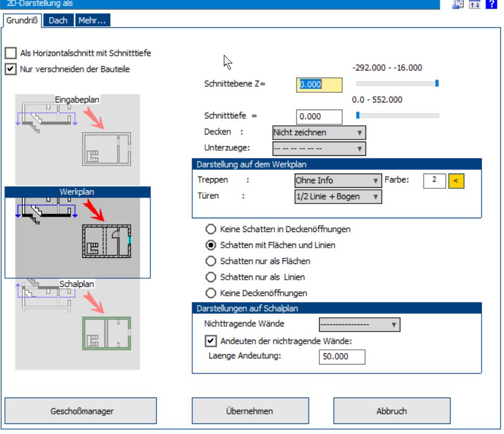 BIM Vom Modell zum automatischen Werkplan, Schalplan, Eingabeplan