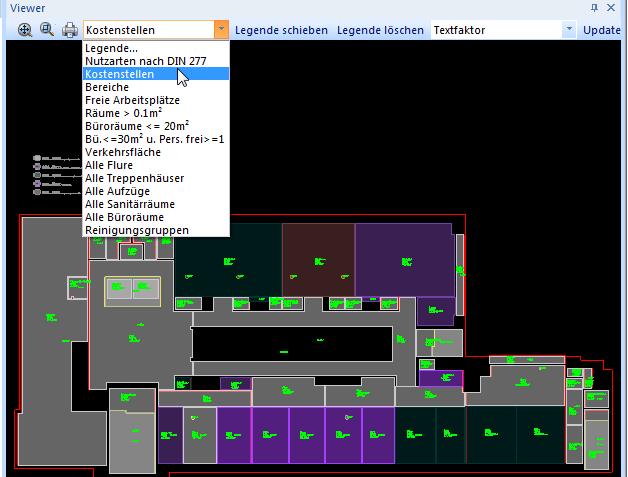 uniGIM BIM CAD Legende und Themenpläne